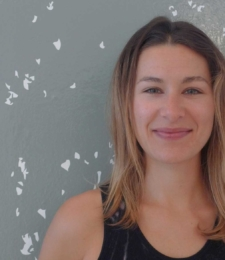 Yoga teacher Caroline Gamble