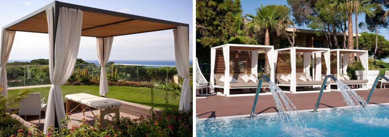 Epic Sana outdoor massage and pool cabanas