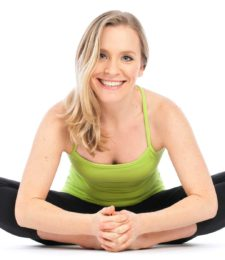 Yoga teacher Jennifer de Lucry