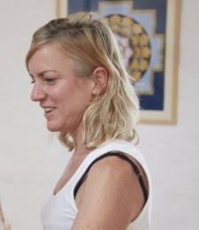 Yoga teacher Laura Gilmore