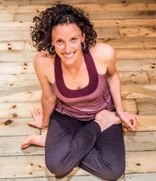 Yoga teacher Mollie McClelland