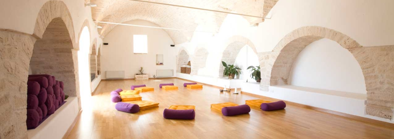 Vaulted yoga studio