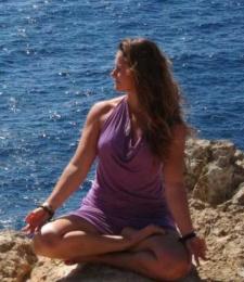 Yoga teacher Saskia Griffiths