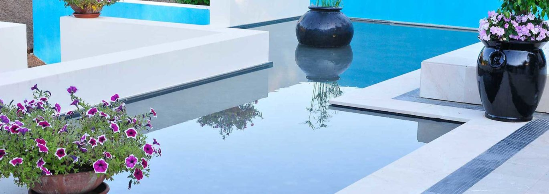 Water garden at Shanti Som