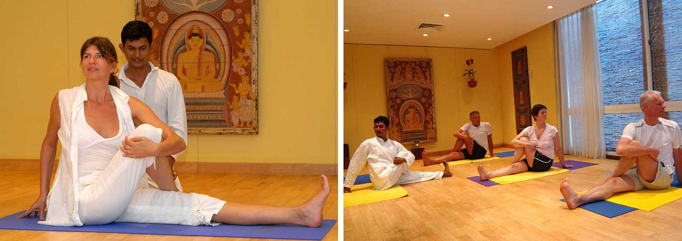 Yoga classes at Lanka Princess